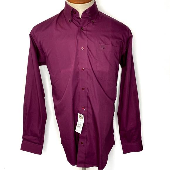 NWT Cinch Men's Dress Shirt Classic Fit Purple S